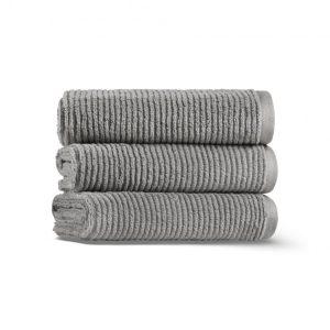Полотенце SLIM RIBBED CASUAL AVENUE - серый-металлик, 3333