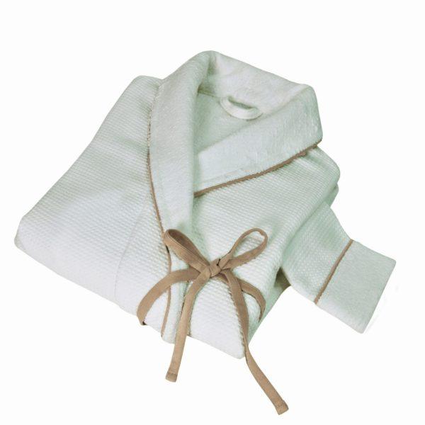 Халат женский TOSYA HAMAM - белый-коричневый, l-xl