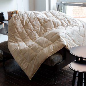 Одеяло стеганое ALMOND CAMEL GRASS