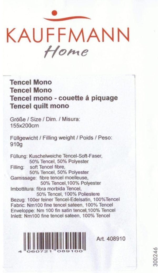 Одеяло стеганое TENCEL MONO