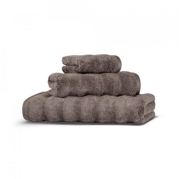 Полотенце ASH Ribbed HAMAM - коричневый, 100150