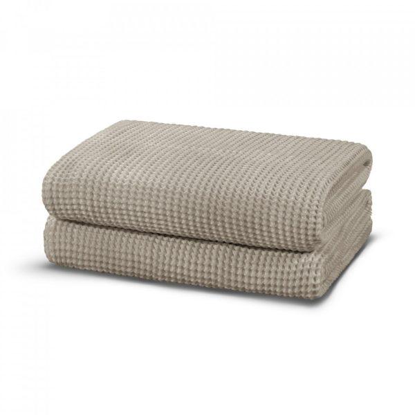 casualavenue waffle modal towel warm gray 2