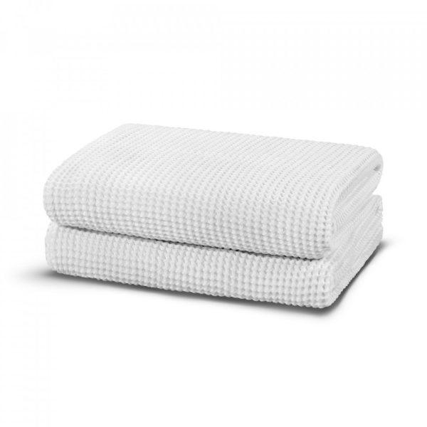 casualavenue waffle modal towel white 2