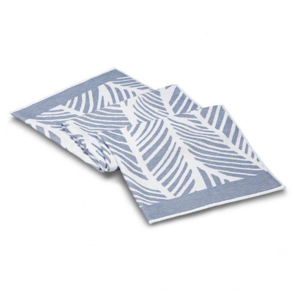 fraser beach towel white blue