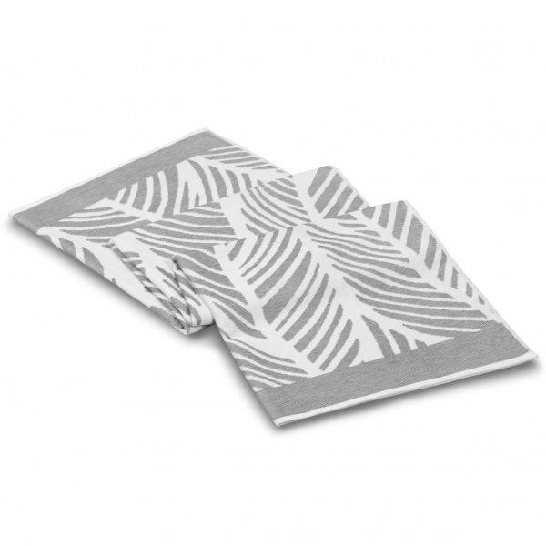 fraser beach towel white light grey