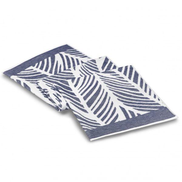 fraser beach towel white navy