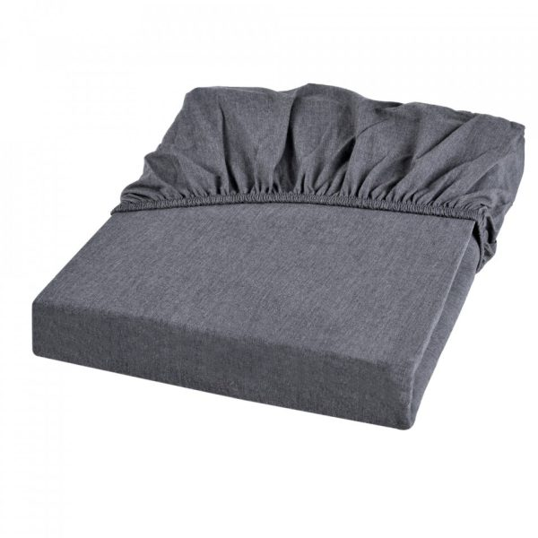 heather percale fitted sheet