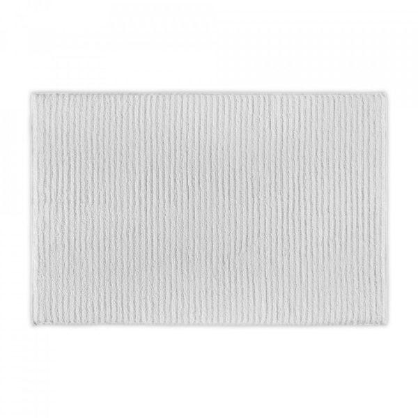 wavy organic cotton bath mat white