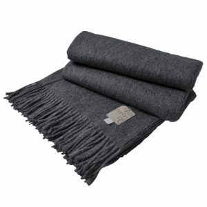Плед GALATA HAMMAM - тёмно-серый, 150x200