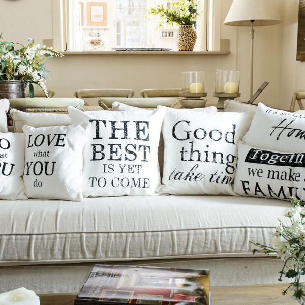 decorative pillows Happily 1